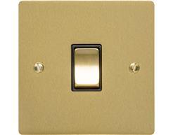 Elite Flat Plate Satin Brass T04