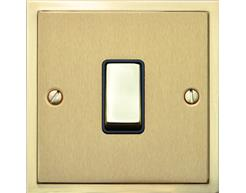 Stepped Plate Satin Brass Dual Finish S04